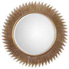 Uttermost Mirrors Free Shipping Uttermost Marlo Round Gold Mirror Contemporary Wall Mirrors