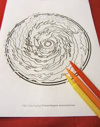 spinning galaxy coloring page single page to print and color