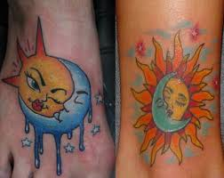 sun moon tattoos what s their meaning plus photos