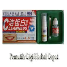 obat pemutih gigi cepat herbal clean natural rahasia pria
