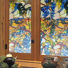 Decorative Window Film Stained Glass Funlife Decorative Window Film 45x100cm Stained Glass Film Grape