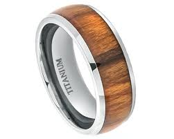 titanium wedding bands for men wood rings titanium wedding band titanium ring promise wood ring