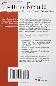 Real Relationships Real Results Buy Getting Results From Your Analyst Relations Strategies Book