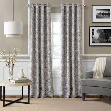Navy And White Drapes Blackout Curtains U0026 Drapes Window Treatments The Home Depot