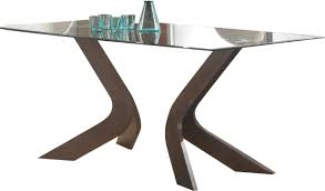 coaster san vicente glass top dining table in walnut 120361