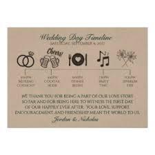 wedding day program wedding program invitations announcements zazzle