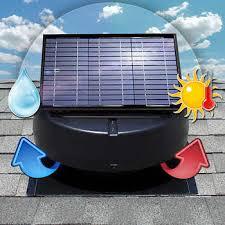 Solar Attic Fan Ventilates 2 800 Sq Ft