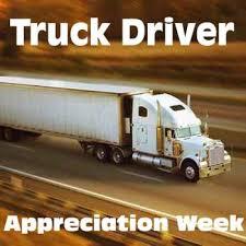 national truck driver appreciation week holidays celebrations