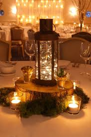 Wood Centerpieces Wedding Tables Wedding Table Centerpieces With Fairy Lights