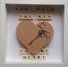 you hold the key to my heart personalised wedding frame gift