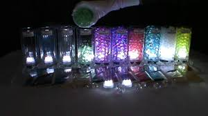 Submersible Led Light Centerpieces by 3led Submersible Lights White U0026 Blyss Water Beads Youtube
