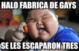Asian Gay Meme - halo fabrica de gays asian fat kid meme on memegen