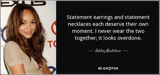 earrings with statement necklace images Ashley madekwe quote statement earrings and statement necklaces jpg