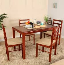 Woodness Solid Wood  Seater Dining Set Price In India Buy - Rubberwood kitchen table