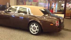 rolls royce roof chocolate rolls royce with leather roof youtube