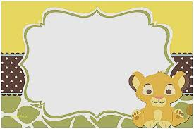 lion king baby shower invitations baby shower invitation luxury design your own baby shower