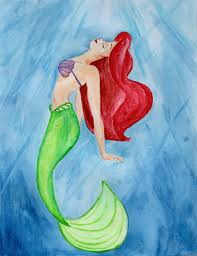 mermaid ariel watercolor julesrizz deviantart