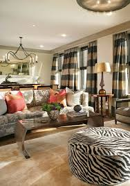Gold Sofa Living Room Horizontal Striped Curtains In Living Room Contemporary With Gold