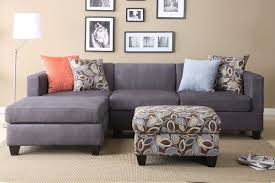 grey l shaped sofa chaise lounge complete beige and black inside