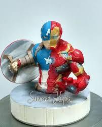 captain america cake topper topper captain america civil war cake by simonelopezartist
