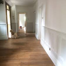entrance hall with wall panelling by wall panelling experts
