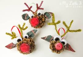 pinecone reindeer ornaments craft room