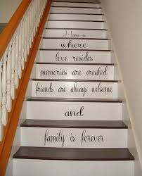 wall decals quote family is forever staircase stairway stairs
