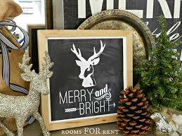 Glitter Deer Christmas Decor by Free Christmas Stag Printable Rooms For Rent Blog
