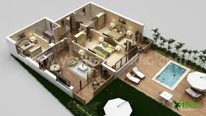 studio floor plan ideas 10 awesome two bedroom apartment 3d floor plans gallery of