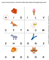 beginning sounds worksheets worksheets
