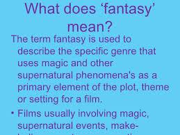 fantasy film genre conventions fantasy films pp