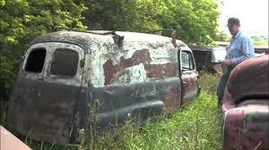 Old Ford Truck Graveyard - classic ford panel vans junkyard junkeez youtube