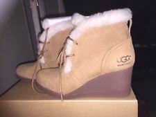 ugg sale eu ugg australia wedge ankle 100 leather boots for ebay
