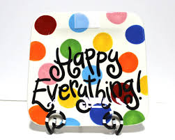 happy everything coton colors coton colors bright dot happy everything mini platter jeannie s