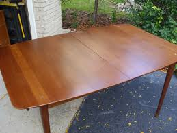 mid century walnut dining table the retrospective modernist american of martinsville mid century