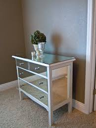 Mirrored Dressers And Nightstands Remodelaholic You Look Good Mirrored Dresser Guest