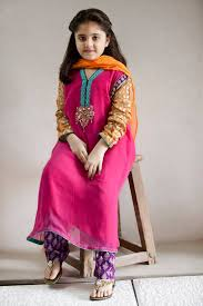 pakistani dress designs for girls maria b kids collection 2014