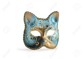 venetian cat mask classical venetian cat mask with isolated on white with clipping