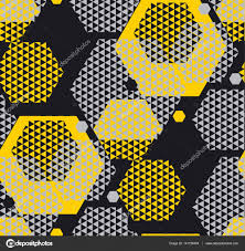 concept modern geometry pattern with yellow and black color geo