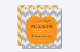 chevron pumpkin halloween invite template design bundles