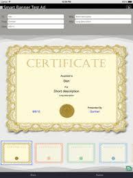 borderless certificate templates certificate maker on the app store