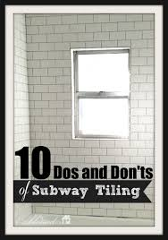 10 dos and don u0027ts of subway tiling a tub surround myblessedlife