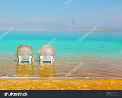 Two Beach Chairs Two White Beach Chairs Stand Near Stock Photo 93710479 Shutterstock