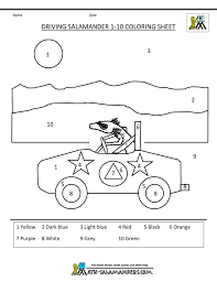 coloring pages kindergarten math activities color in 1 to 10