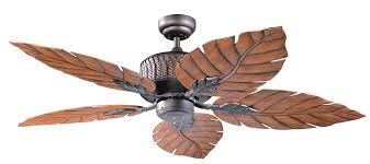 Indoor Tropical Ceiling Fans With Lights Kendal Lighting Ac13152 Orb Fern Leaf 52 Inch 5 Blade Ceiling Fan