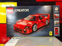 lego ferrari f40 lego creator ferrari f40 10248 experto automóvil carreras
