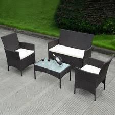 porch courtyard bamboo furniture set garden table patio chair sofa