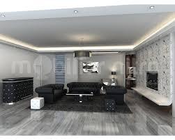 salon avec canapé noir chambre enfant exemple salon un salon cosy avec rideaux et tapis