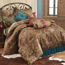 Cheetah Bedding San Angelo Teal Western Bedding Comforter Collection Cabin Place