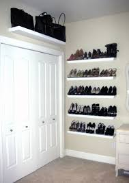 put some shelves behind the door in the wir for my shoes and some